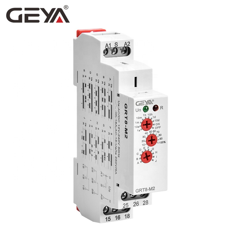 GEYA Good Price GRT8-M2 10 Function Time Delay Relay Wide Voltage Range Multi Function 16A 24V-240V AC/DC <strong>timer</strong>