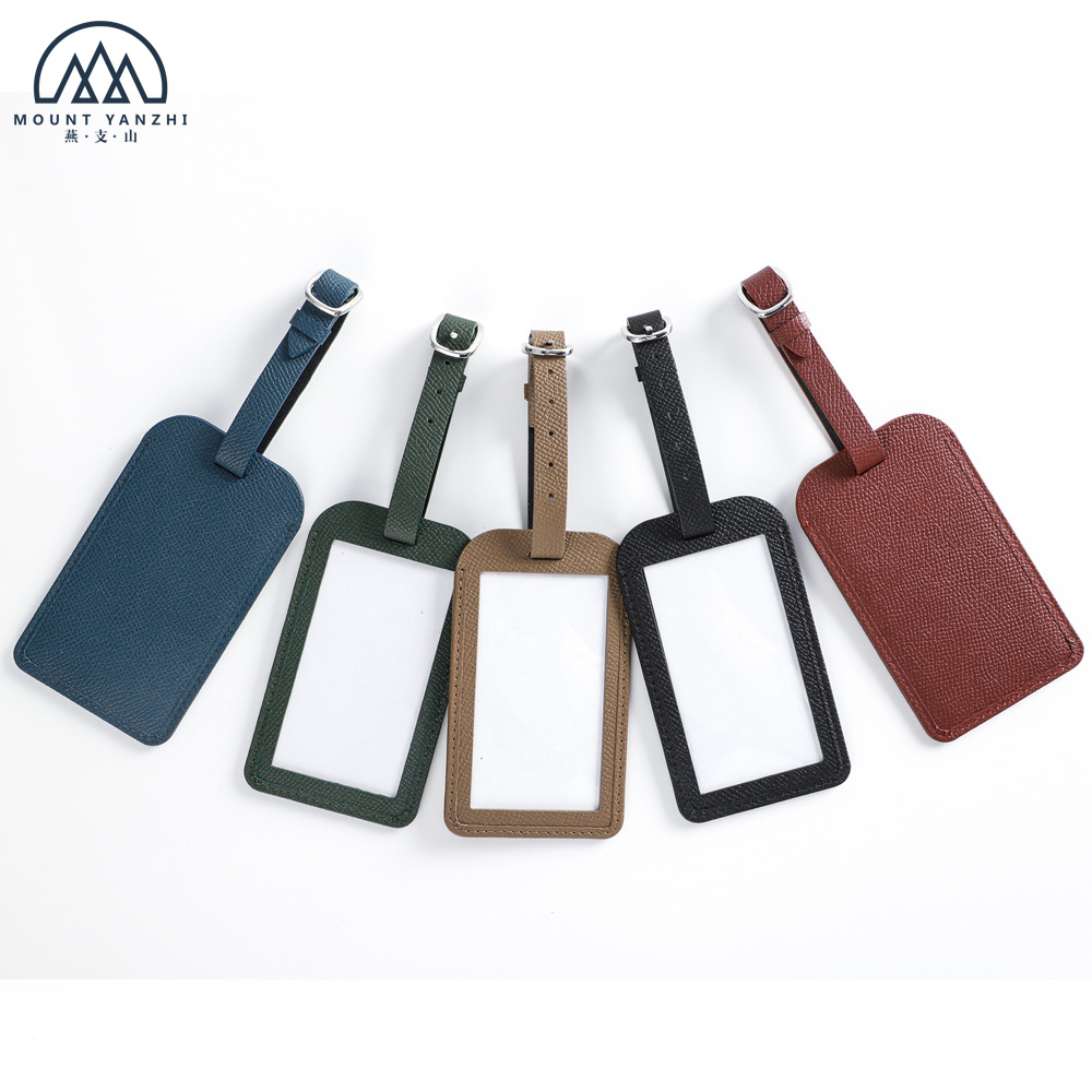 Personalized Colorful Travel Genuine Leather Tag Luggage Bag Tags