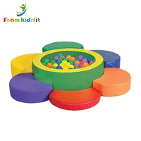 Customized kindergarten kids soft play colorful foam ball pit pool