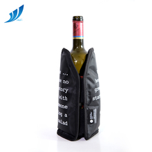 Cotton sleeve <strong>filled</strong> with gel Bottle Cooler <strong>bag</strong> for wine