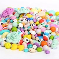 Food Grade Silicone Beads Wholesale Food Grade Silicone Teething Beads Bulk silicone teething beads