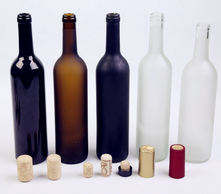 Sylinderical Shape Food Grade Glass Empty Bottles for Storing Wine