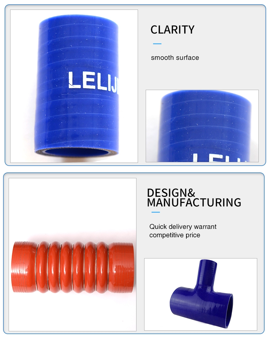 China manufacturer industrial flexible silicone vacuum hose pipe
