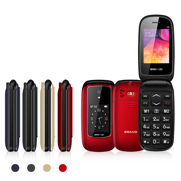 GSM wholesale free sample China cheap foldable feature unlocked keypad flip cell mobile phone