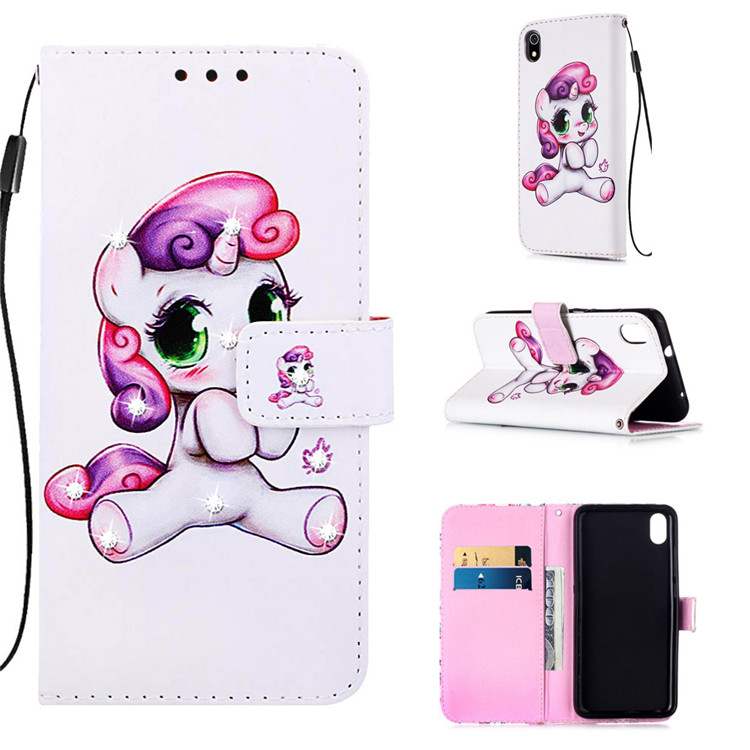 PU Leather Wallet Case Flip Cover Stand Card for <strong>Phones</strong> Cute for Xiaomi Redmi 7A