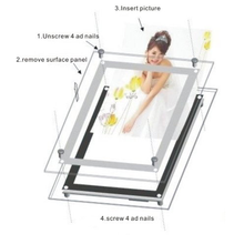 Household Simple Style Portable Photo Frame Slim Led Light Box