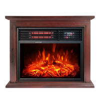 Portable 3d flame wooden Infrared Freestanding ELECTRIC HEATER fireplace