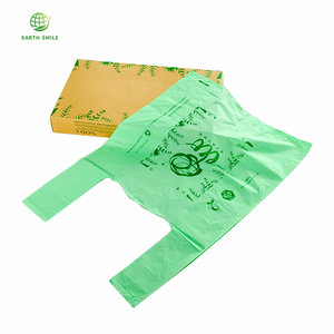 Foldable 100% Reusable Compostable T-shirt Grocery Plastic Shopping Bags Biodegradable Grocery Bag With Handle