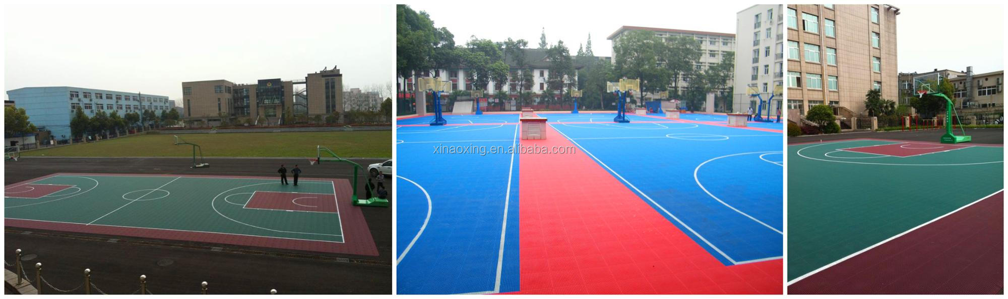 Outdoor interlocking basketball court sports floor pp tile