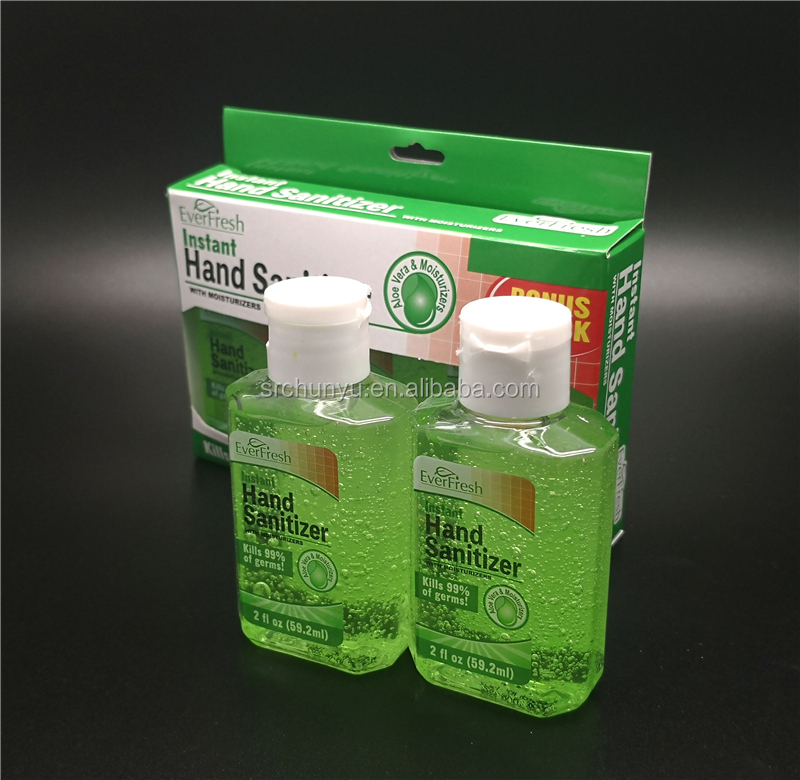 singapore 60ml 2OZ fl Box Packing Instant Waterless Antibacterial Hand Cleaning Sanitizer Gel