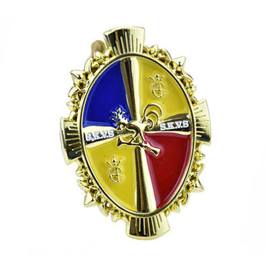 Custom Hot Sale Brass Wire Die Casting Badge Zinc <strong>Alloy</strong>