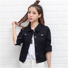 Wholesale Low Moq Cheap Giacca Di Jeans Slim Fit Button Up School Jean Jacket Girl