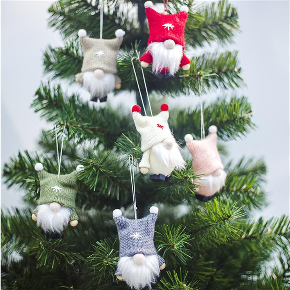 1pcs Nordic Gnome Christmas Santa Dwarf Doll Pendants Holiday Xmas Party <strong>Decoration</strong> Hanging Ornaments