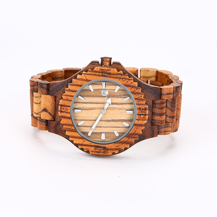 2019 New hot products natural wood watch red sandal wood watches for man woman with Auto Date
