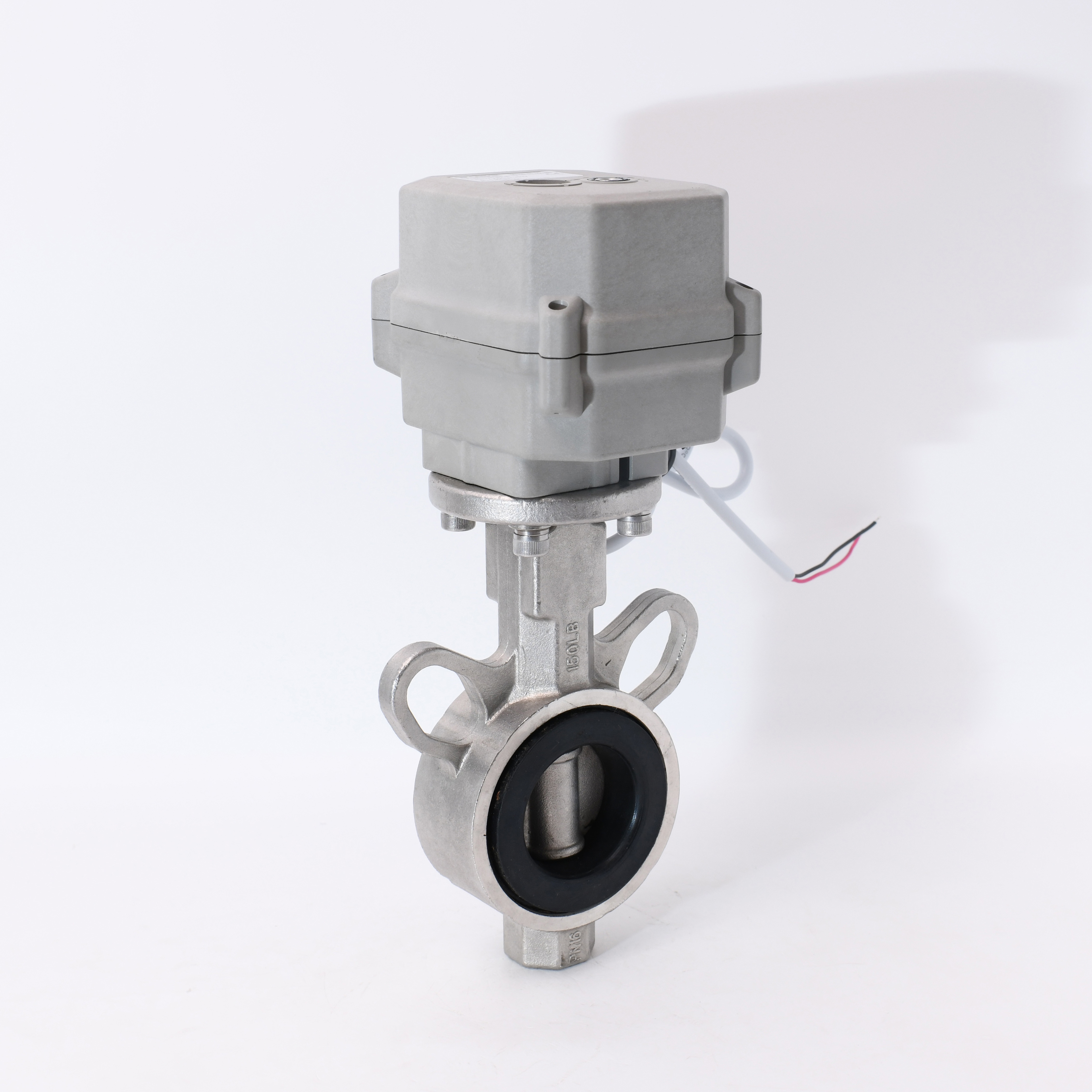 Factory price soft seal 12v 24v DN40  motorized stainless steel butterfly valve for water supply