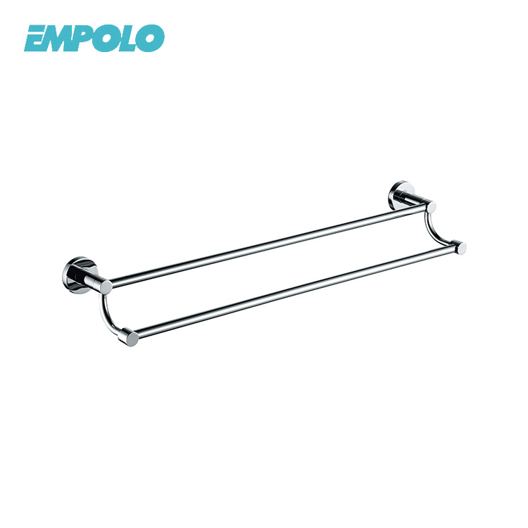 Body Towel Brass Finishing Wall Hang Towel Rack Bath Double Towel Shelf