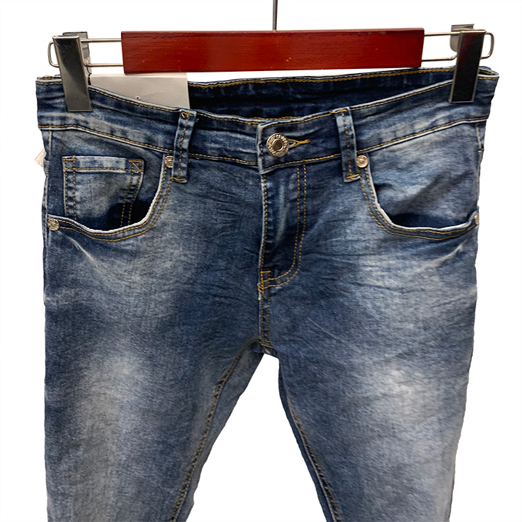 Stock wholesale suppliers casual pants cotton custom accepted denim jeans for men