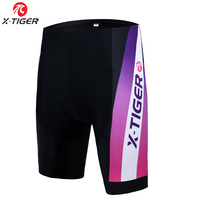 X-TIGER Women Cycling Shorts Shockproof MTB Bicycle Bib Shorts With 3D Gel Padded Riding Bike Shorts Pants Culotte Ciclismo