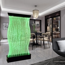 home furniture decor customized led waterfall bubble water wall