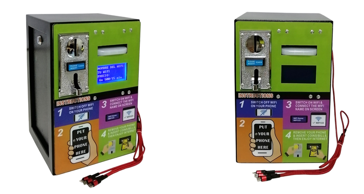 Small Business Trade Assurance Steel Plate Shell Coin Banknote Operated Charging and 4G WiFi Vending Machine in Hospital