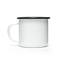 Wholesale Camping Blank White Logo Printing Sublimation Custom Enamel Mug