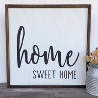Rustic Home Sweet Wood Sign