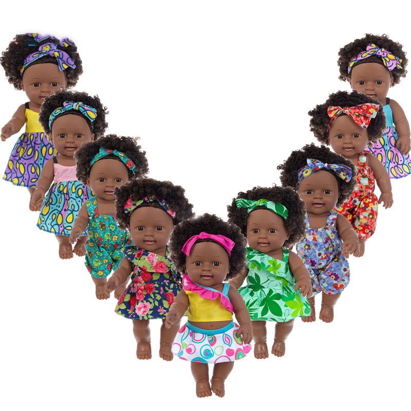 30cm black <strong>dolls</strong> african american Afro braids wholesale black baby <strong>dolls</strong> for kids