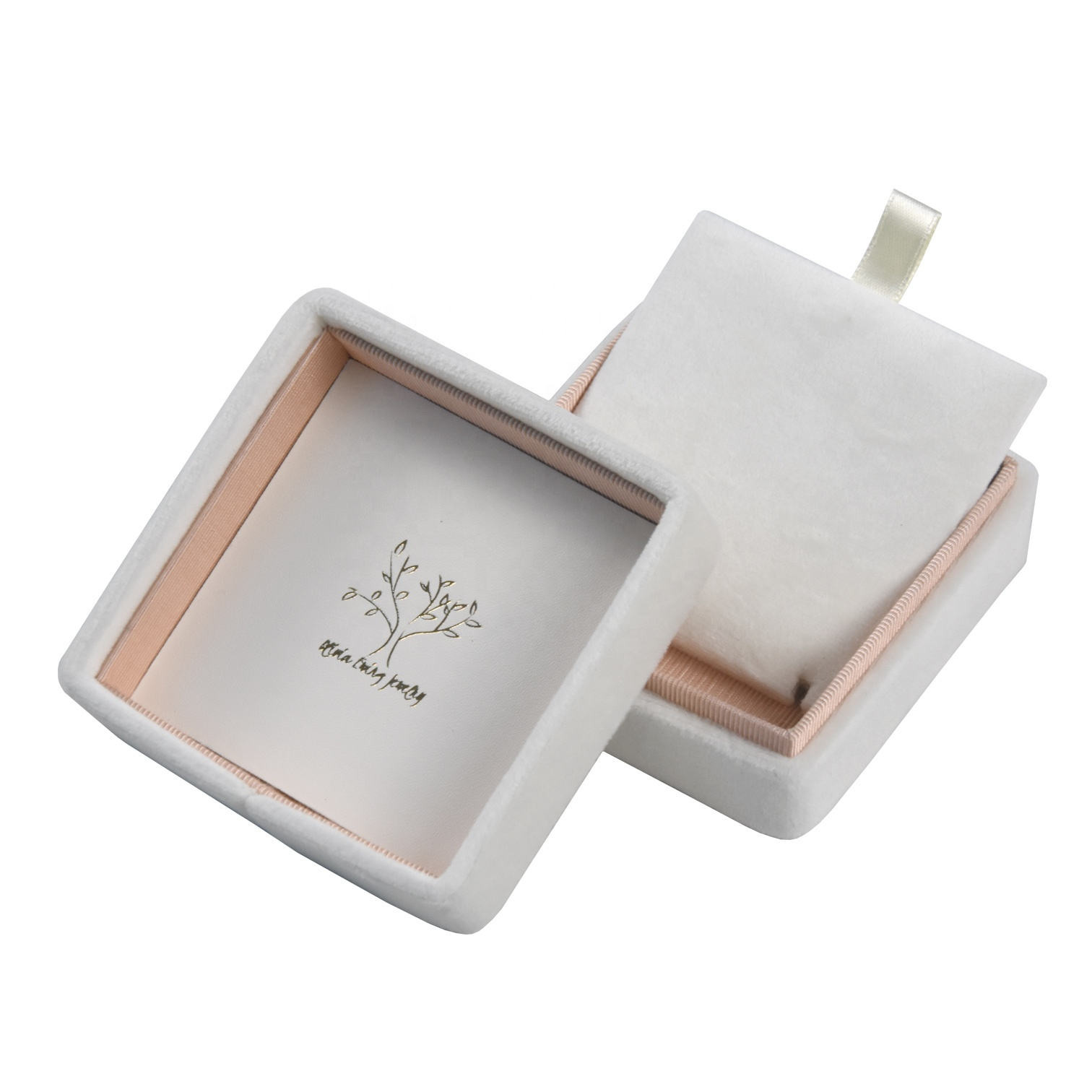 Custom logo luxury gift jewelry box with white square gift box shape for bangle jewelry gift box