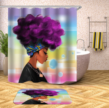 G&D Wholesale African Women Custom 3d Bathroom Shower Curtains