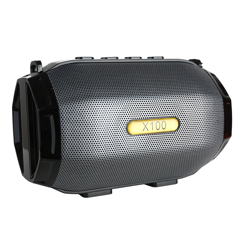 Portable Carrying Strap metal shield cover wireless speakers mini Bluetooth LED light Speaker <strong>X100</strong> speakers