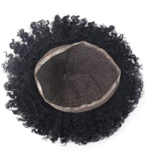 Wholesale price high quality virgin human hair swiss lace men toupee afro toupee for black men