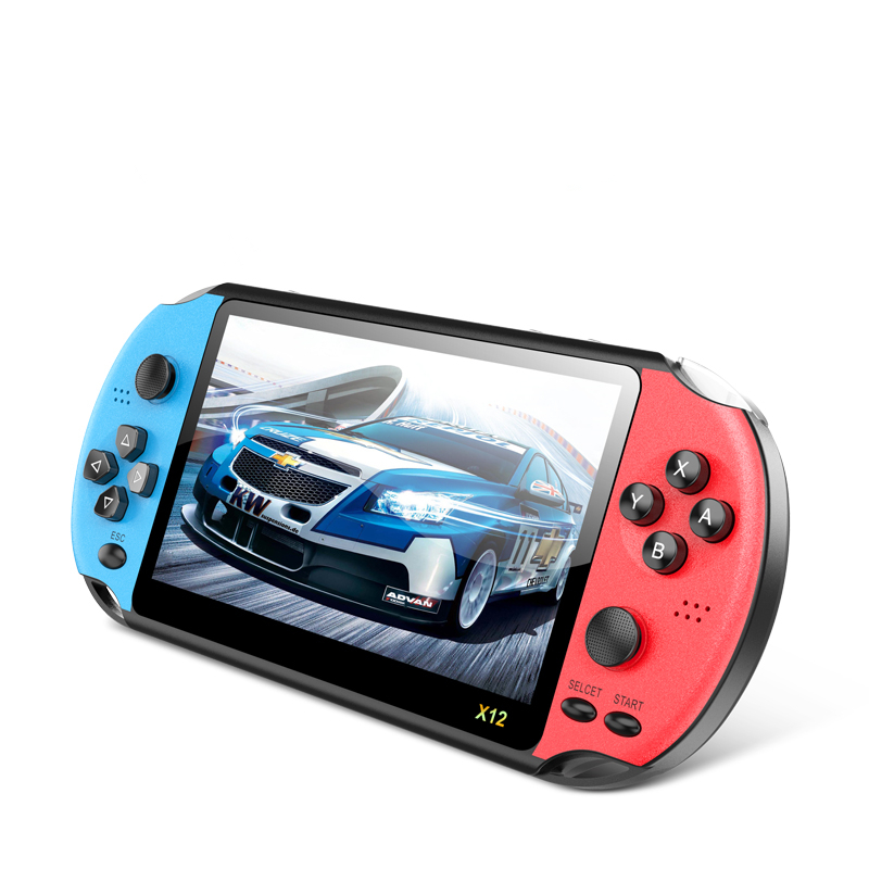 Newest Support TFcard <strong>X12</strong> Handheld Game Player Retro Games Video Retro Game Console 5.1 inch Screen