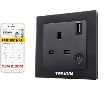 Teejoin Glass Panel Uk 16amp Alexa Smart Life Tuya App Wireless Remote Zigbee Wifi Usb Plug Outlet Wall Socket