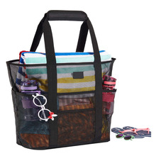 Beach Bags and <strong>Totes</strong> with Handles Large Toy <strong>Tote</strong> Bag Market, Grocery &amp; Picnic Mesh <strong>Tote</strong> Bag