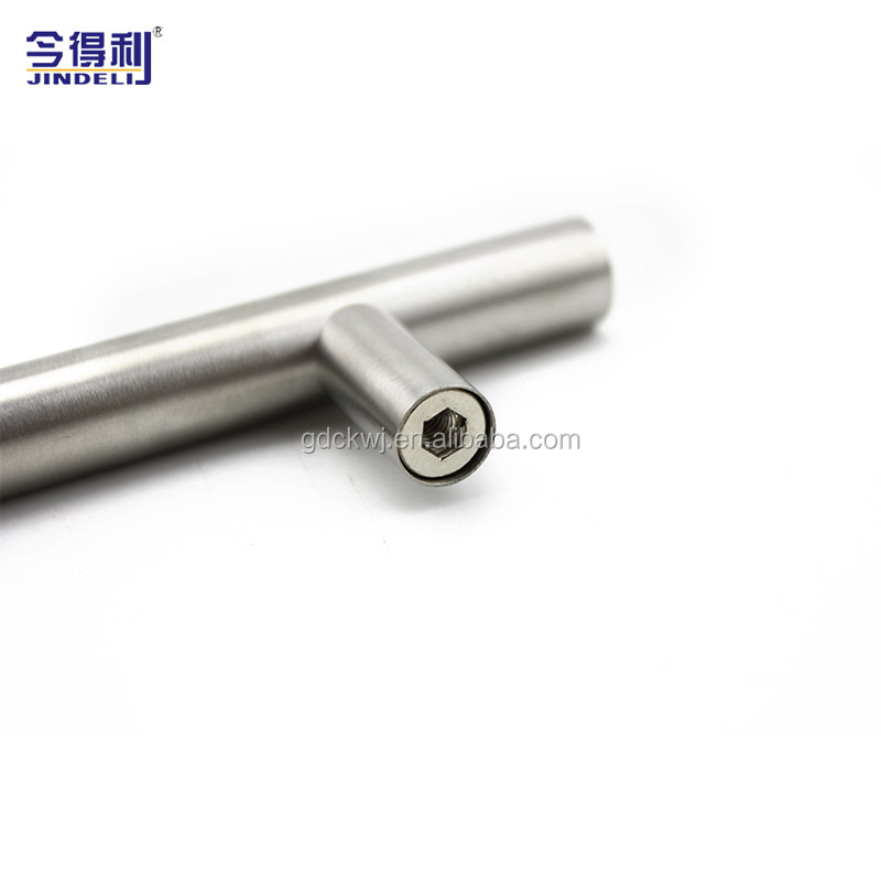 64mm Nickel Furniture Handle Furniture Stainless Steel Pull Solid Cabinet Handles