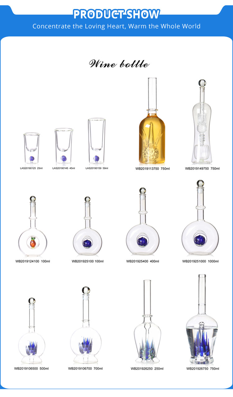 Handcraft Heat-resistant Double Wall Borosilicate Tequila glass