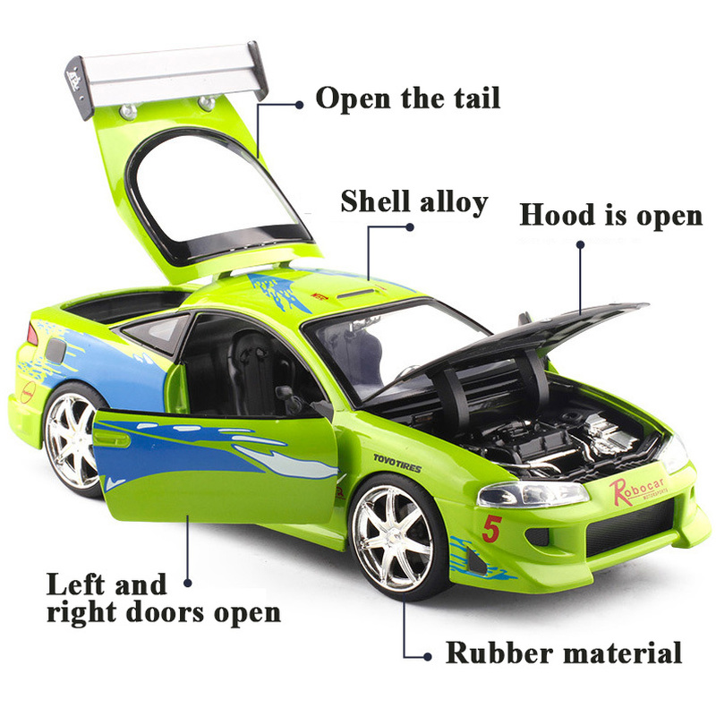 New Style Zinc Alloy Diecast Scale Model Cars Toy Fast and Furious Theme for Kids