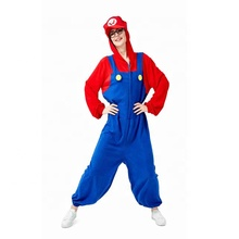 Halloween Super Mario Bros Costume Women Sexy Dress Plumber Costume Adult Cosplay Fancy Dress