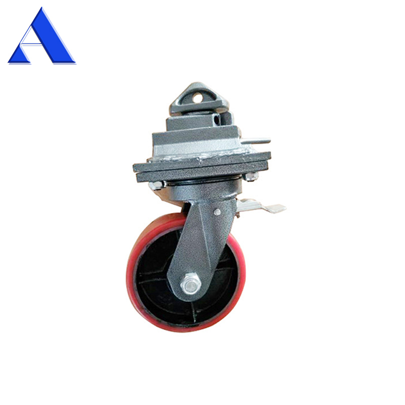 2T 3T 5T Quick Lock Swivel or Rigid Caster ISO Shipping Container <strong>Wheel</strong>