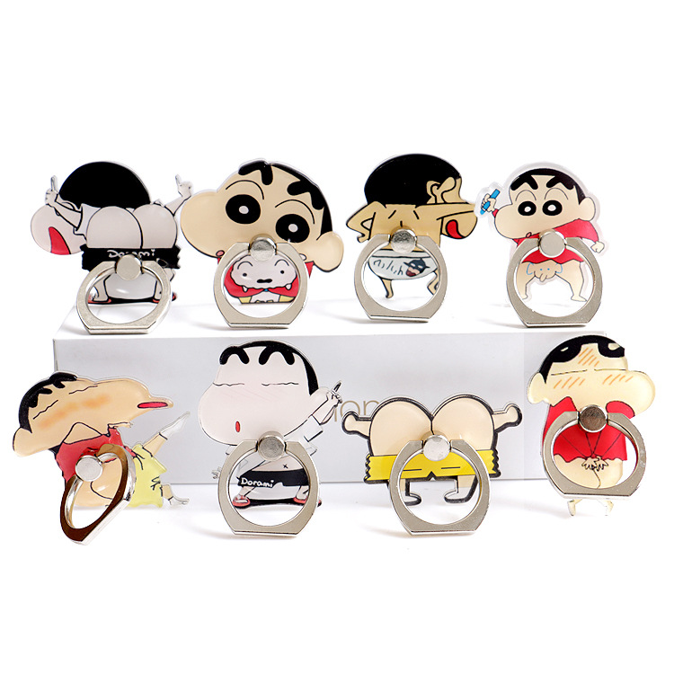 Cartoon Ring Buckle Mobile Phone Stand Personality Creative Lazy Desktop Stand Acrylic Mobile Phone Holder