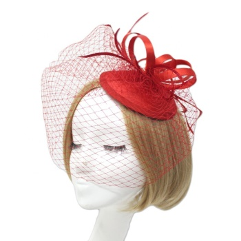 Wedding Fascinators Hat Flower Cocktail Tea Party Headwear-BLHHA5090