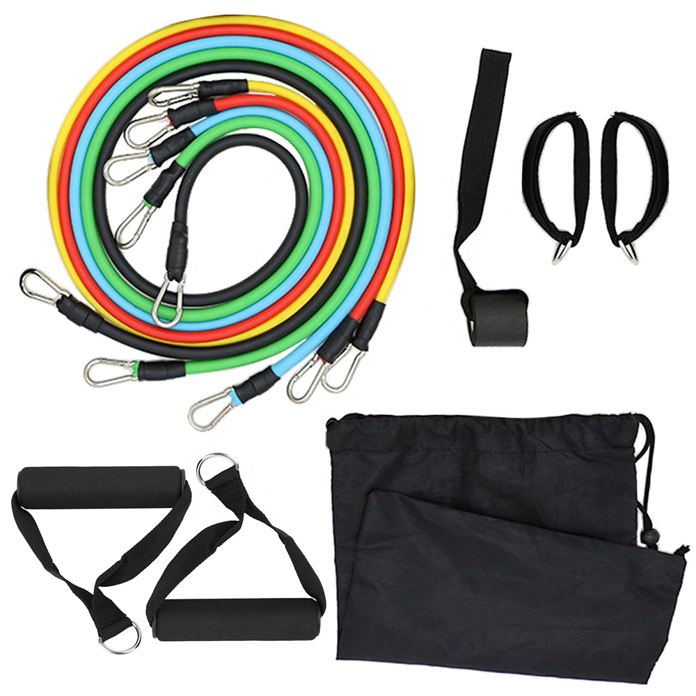 Gym Equipment <strong>fitness</strong> long 11 pcs set resistance loop bands