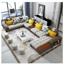 washable living room sofa set multifunctional nordic style <strong>fabric</strong> &amp; velvet sectional sofa