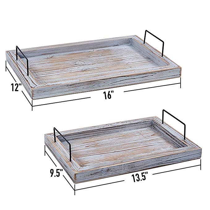 Butler Lap Trays with Metal Handles