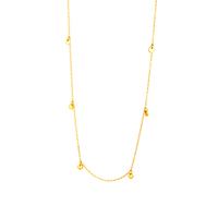 2020 Women Factory Wholesale Gold Plated Chain Necklace 925 Sterling Silver Jewelry Fashion Women Necklace