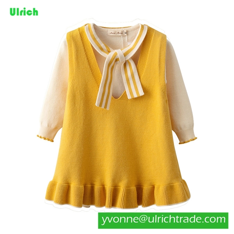 LYX67 Baby winter warm sweater  jumper kids clothes knitted  dress sweater