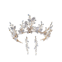 Copper Flower Decorative Crown Earring Wedding Hair Accessories Jewelry