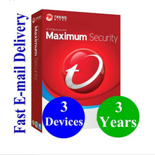 Software Hardware Antivirus Digital Key Trend Micro 2019 Maximum <strong>Security</strong> 3 Year 3 PC antivirus internet <strong>security</strong>