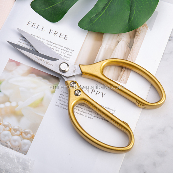 Gold Silver Multi-Purpose Scissors Stainless Steel SK5 Kitchen Scissors For Easy Cutting Chicken Bone
