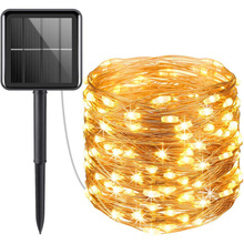 12m led solar christmas tree lights Holiday Lighting Solar led String Lights Outdoor wholesale For Christmas Decoration